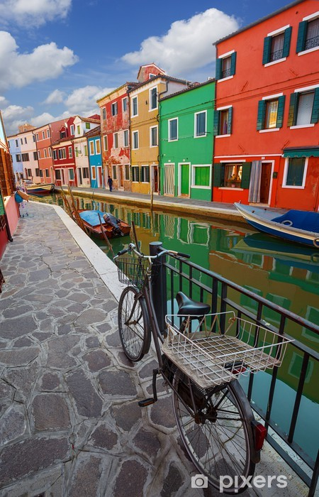 multicolored houses on Burano island. Venice. Italy. Vinyl Wall Mural - European Cities