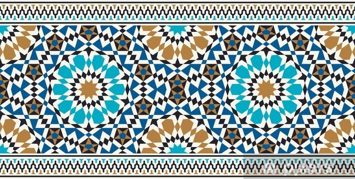 Vinilo para Nevera Bonab Seamless Border Tres - Mosaico