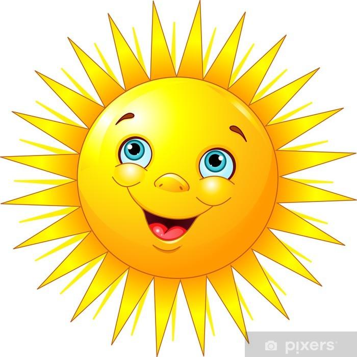 Papier peint Soleil souriant • Pixers® - Nous vivons pour changer
