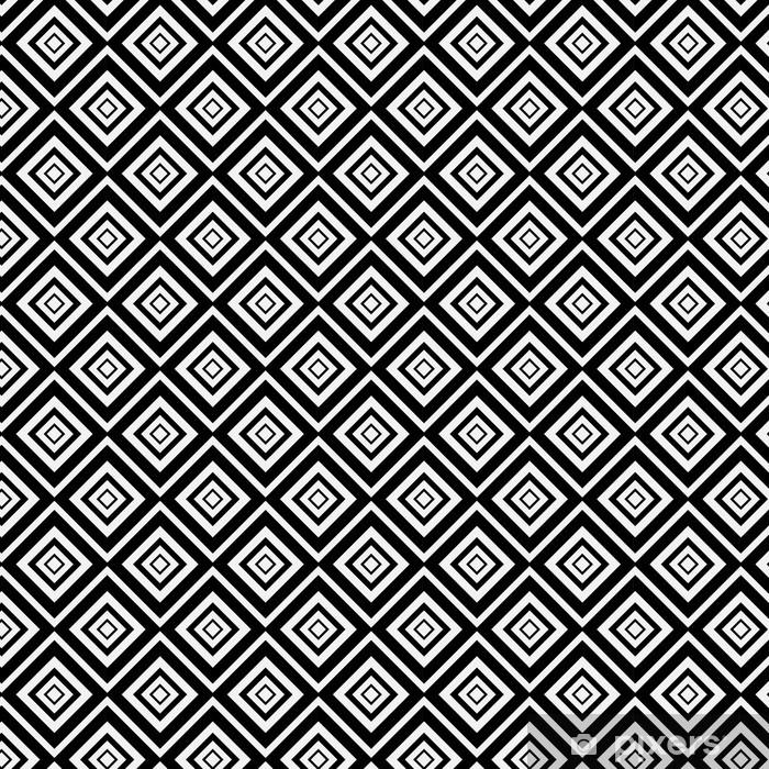 Popart Muster Schwarz Weiss Rauten Inneinander