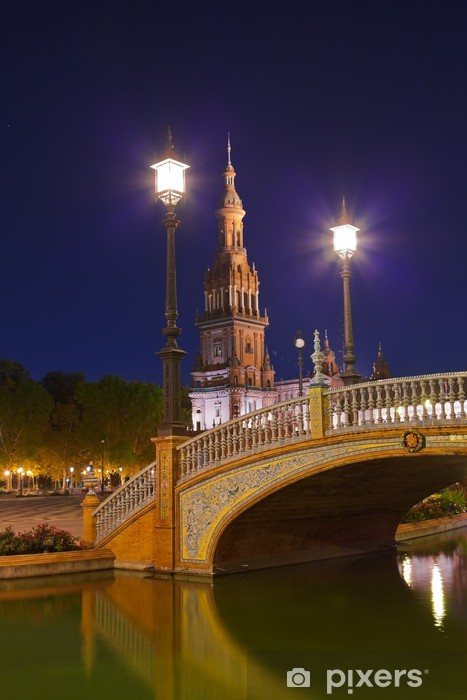 Nálepka Pixerstick Palace na španělském náměstí v Seville ve Španělsku - Prázdniny