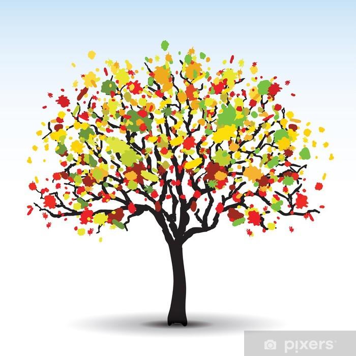 Fotomural Estándar Otoño árbol abstracta en vector - Abstractos