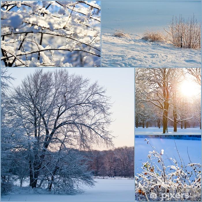 Fototapete Winter Collage Pixers Wir Leben Um Zu Verandern