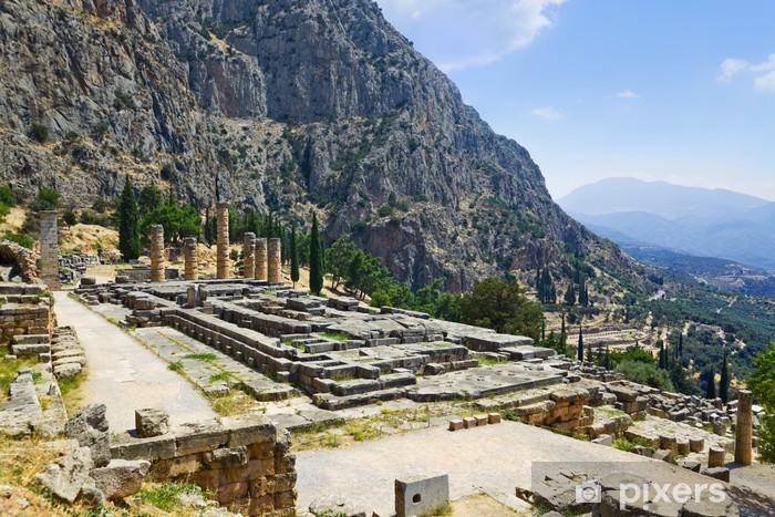 Sticker Pixerstick Ruines du temple d'Apollon à Delphes, en Grèce - Vacances