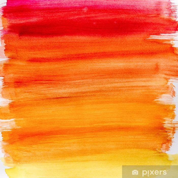 Vinyl Fotobehang Gradient aquarel achtergrond in warme kleuren - Thema's