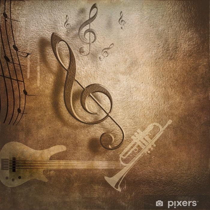 Naklejka Pixerstick Muzyka w tle na plakacie - Tematy