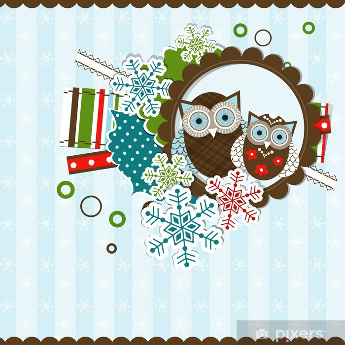 Plakat Boże Narodzenie karty z pozdrowieniami szablonu, wektor - Święta międzynarodowe