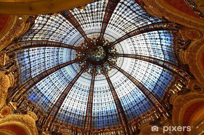 Naklejka Pixerstick Galerie Lafayette, Paryż, Francja - Miasta europejskie