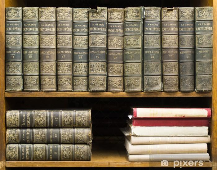 Papier peint vinyle Vieux livres sur étagère - Bibliothèque