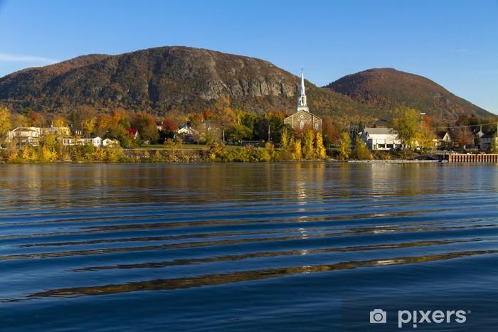 Papier peint vinyle Mont St-Hilaire, automne - Saisons