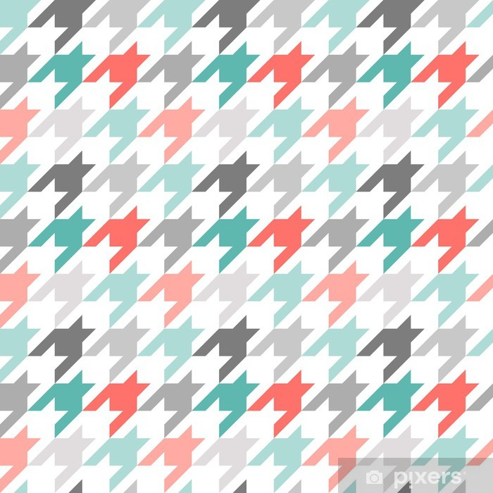 Houndstooth seamless pattern, colorful Pixerstick Sticker - Styles