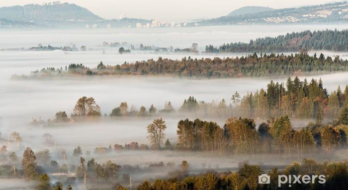 Vinyl-Fototapete Schichten Bäume Breaking Through Misty Szene - Amerika