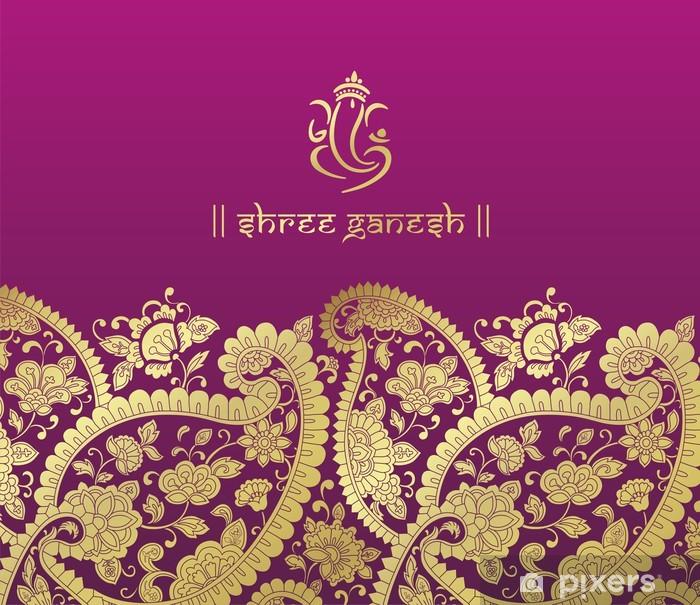 Plakat Ganeśa, karta ślub, królewski Rajasthan, Indie - Świętowanie