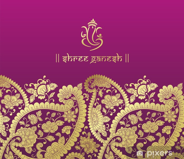 Poster Ganesha, carte de mariage, Royal Rajasthan, en Inde - Célébrations