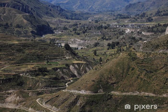 Fotomural Estándar Der Cañón del Colca en Perú - Temas