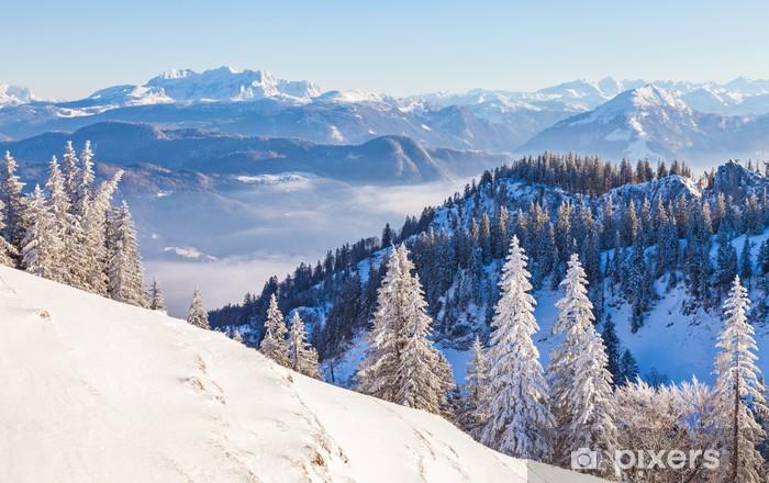 Naklejka Pixerstick Zimowy krajobraz - Pory roku