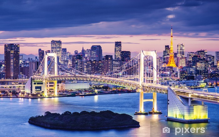 Sticker Pixerstick La baie de Tokyo -