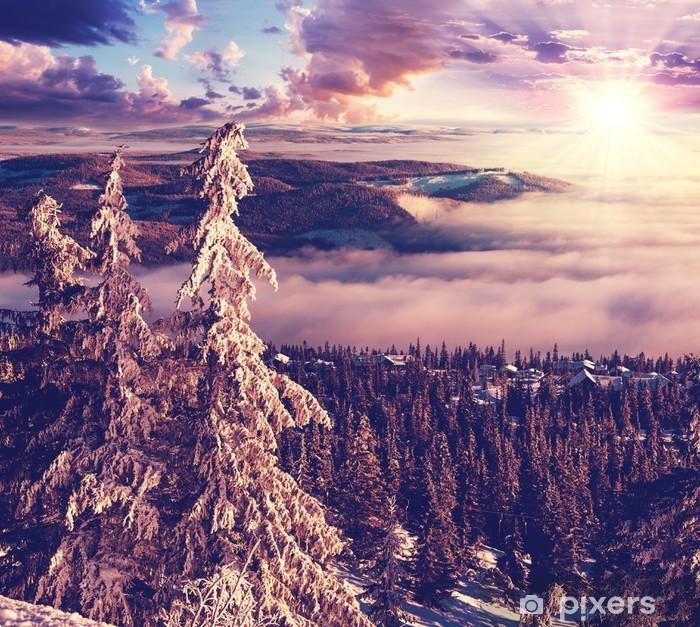 Naklejka Pixerstick Zima w Norwegii -