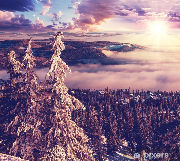 Winter in Norway Pixerstick Sticker -