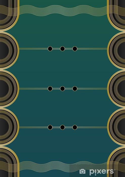 Pixerstick-klistremerke Bølger Art Deco Bakgrunn - Bakgrunner