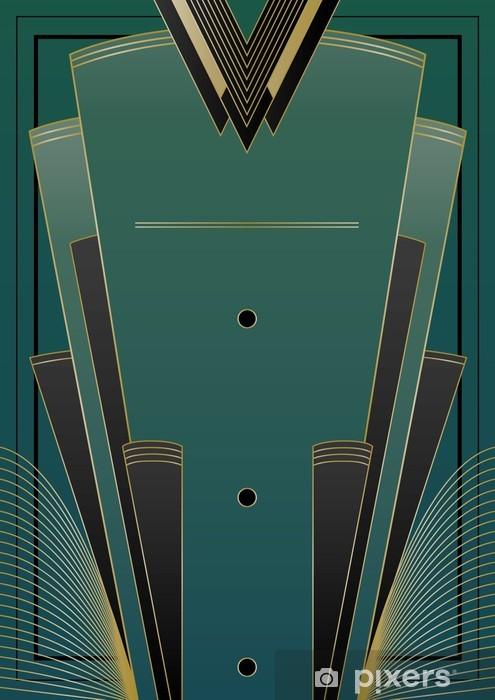 Pixerstick Sticker Fans Art Deco Achtergrond - Achtergrond