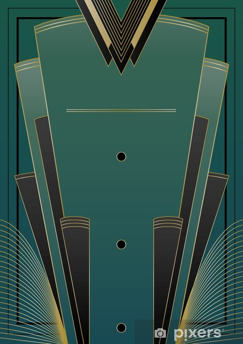 Vinilo Pixerstick Fans Art Deco Antecedentes - Fondos