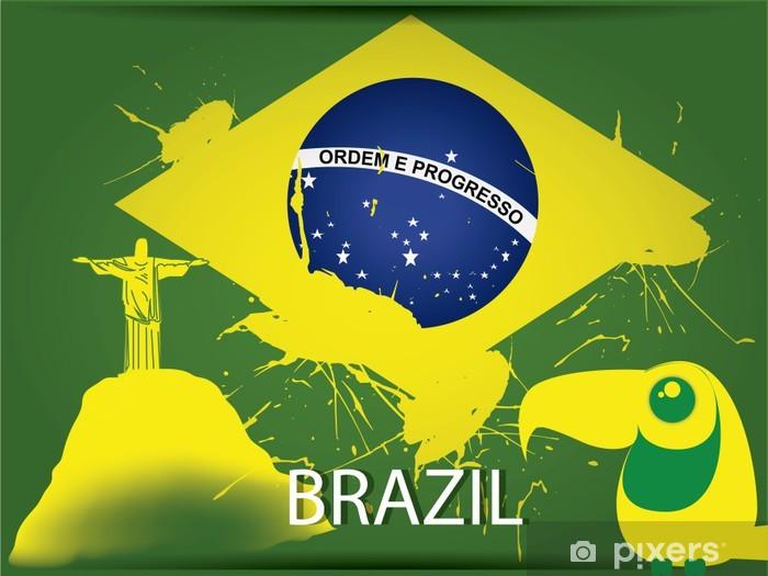 Vinyl-Fototapete Brasilien-Flagge - Urlaub