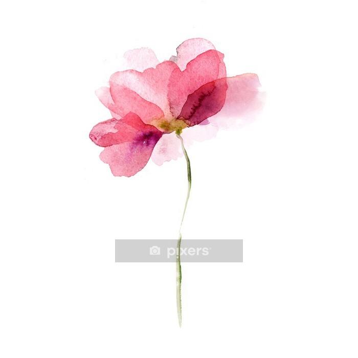 Naklejka na ścianę Akwarela kwiat -