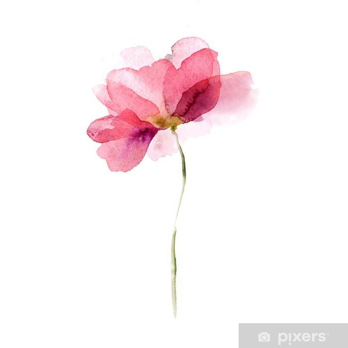 Watercolor flower Pixerstick Sticker -