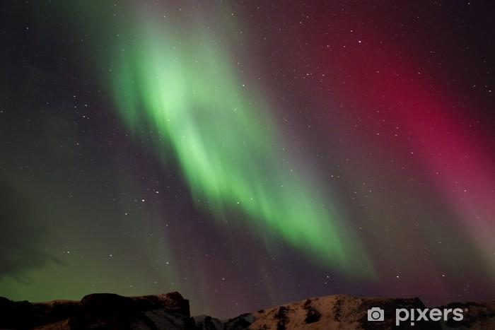 Papier Peint Autocollant Aurores boréales en Islande - Europe