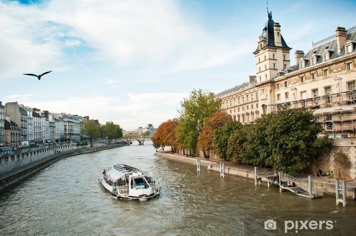 Vinyl-Fototapete Dock Seine Paris - Europäische Städte
