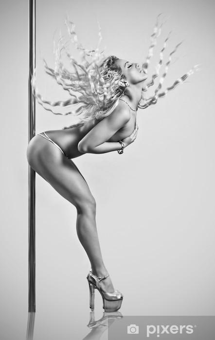 Sexy pole dancer Pixerstick Sticker - Themes
