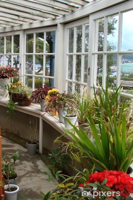 Papier peint v randa et jardin d 39 hiver pixers nous vivons pour changer - Jardin d hiver veranda ...