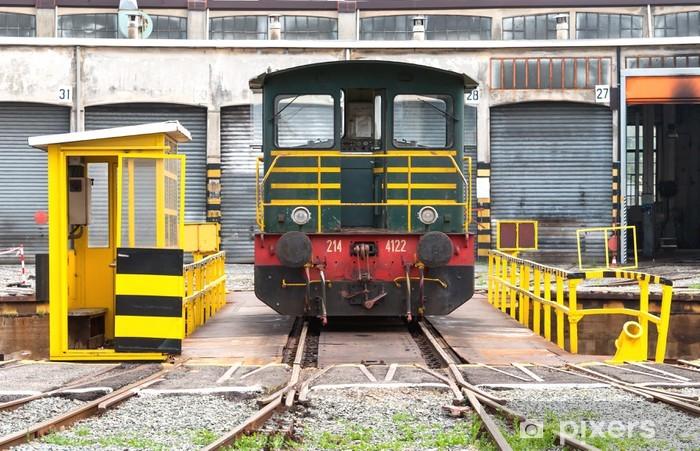 Nálepka Pixerstick Rotující plošina pro obnovu vlaky - Těžký průmysl