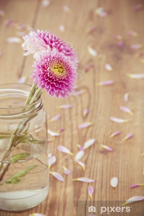 Papier peint vinyle Fleures - Fleurs