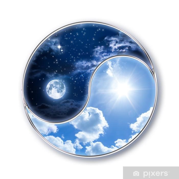 Fotomural Estándar Icono tao - luna y el sol - Vinilo para pared