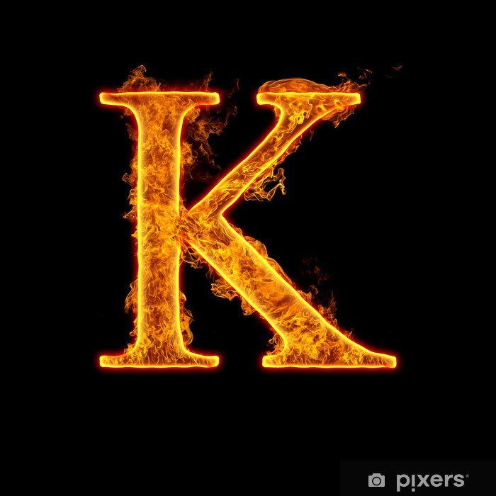 Fire Alphabet Letter K Poster