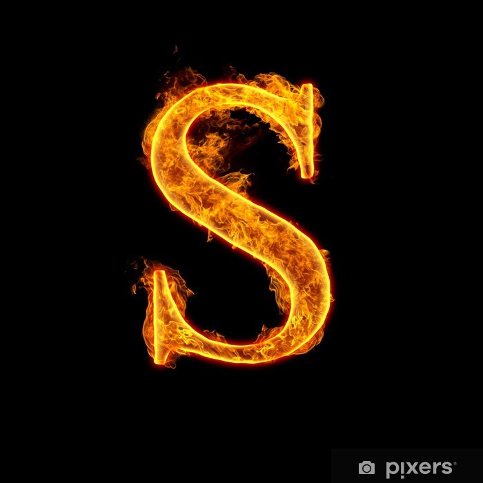 Fototapete Feuer Alphabet Buchstaben S