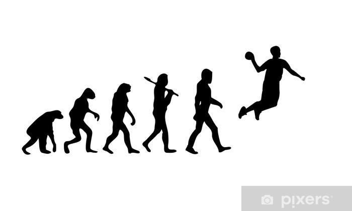 Dørklistremerke Evolusjon Håndball - Lagidrett