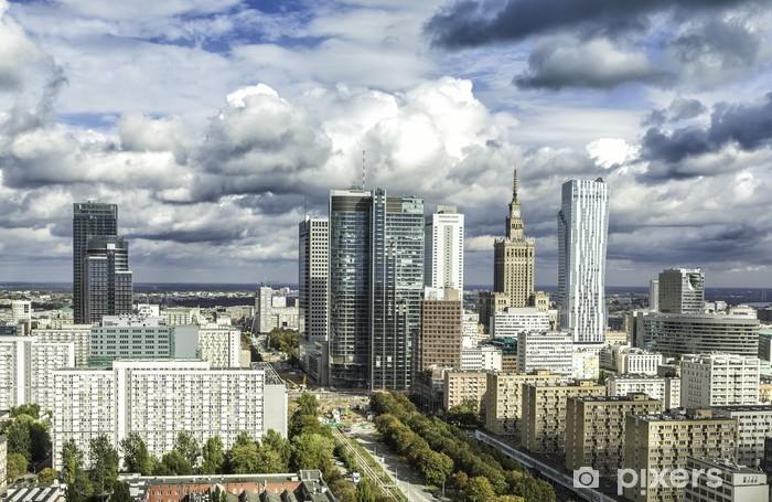 Vinilo Pixerstick Varsovia Downtown - Temas