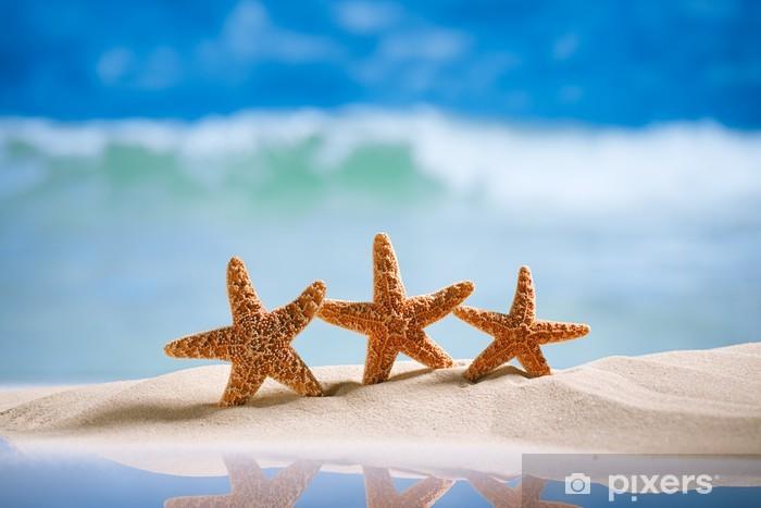 Afwasbaar Fotobehang Zeester met zee, strand en zeegezicht - SPA & Wellness