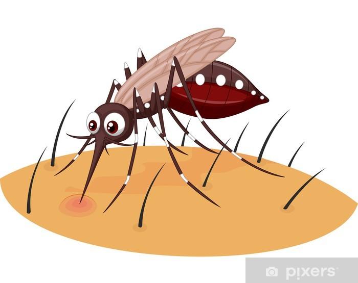 Carta da parati zanzara cartone animato succhiare il sangue
