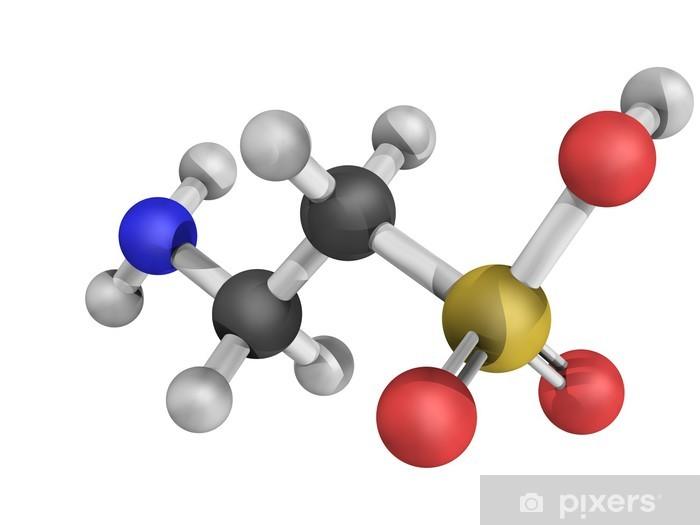 Papier peint vinyle Modèle moléculaire Taurine - Sciences fondamentales et appliquées