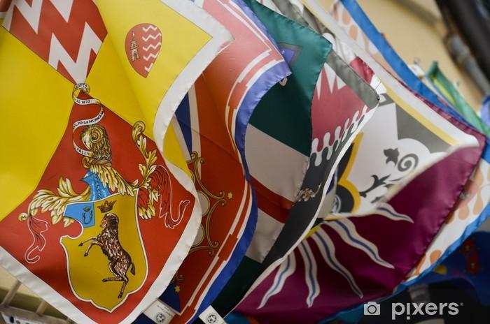 Papier peint vinyle Les drapeaux de la région de Sienne - Mode