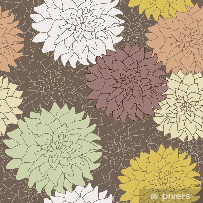 Seamless floral pattern Pixerstick Sticker - Flowers