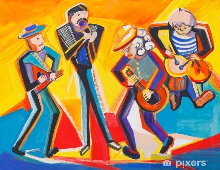 Papier peint vinyle Quatuor de jazz - Passe-temps et loisirs