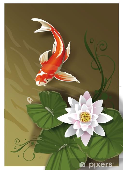 Fototapeta winylowa Koi z Water Lily - Sztuka i twórczość