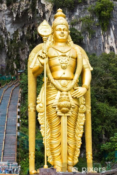 Sticker pour vitres et fenêtres Statue de dieu hindou Muragan au grottes de Batu, Kuala Lumpur- - Monuments