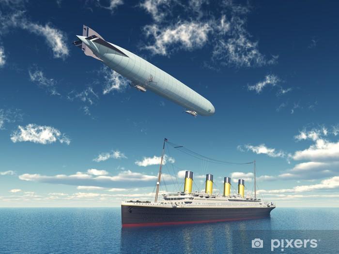 Fototapeta winylowa Spotkanie na morzu - Transport powietrzny