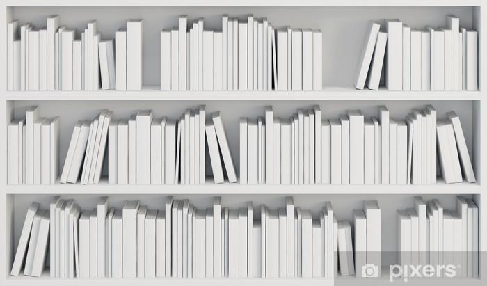 Vinilo Pixerstick Librería con libros blancos - Biblioteca
